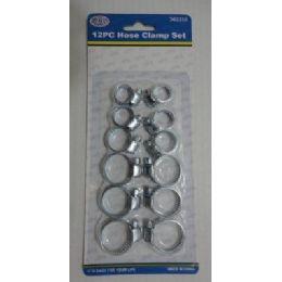 144 Bulk 12pc Hose Clamp Set