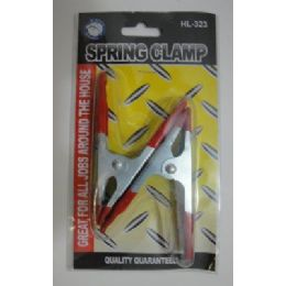 "36 Bulk 2pc 4"" Metal Spring Clamps"