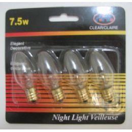 48 Bulk 4pk 7.5 Watt Night Light Bulbs
