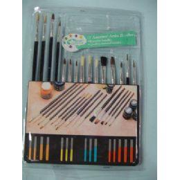 60 Bulk Artist Paintbrushes 15 Piece Set