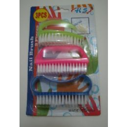 24 Bulk 3pcs Plastic Nail Brush