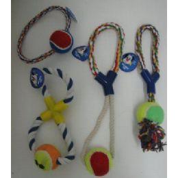 36 Bulk Rope Pet Toy Assortment