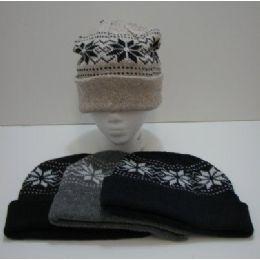 120 Bulk Knit Snowflake Toboggan