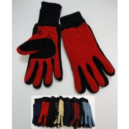 144 Bulk Ladies Cuffed Gloves With Suede Palm (two Tone)