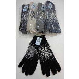 144 Bulk Men's Thermal Insulate GloveS--Snowflakes