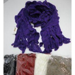 72 Bulk Ruffle Knit Scarf