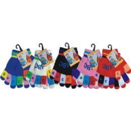 120 Bulk Kids Magic Glove With Snow Flake Print