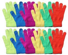 72 Bulk Neon Craze Magic Gloves
