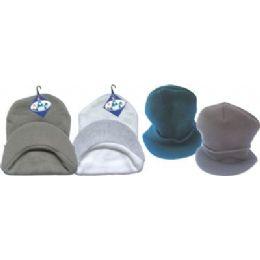 144 Bulk Black Winter Hat With Visor