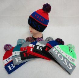 48 Bulk Hand Knitted Fashion Hat & Scarf SeT--2 Flowers