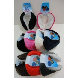 144 Bulk Earmuffs With Fur InsidE--Solid Color