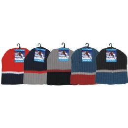 144 Bulk Winter 3 Tone Beanie Hat