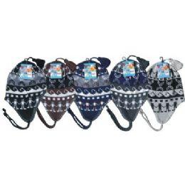 96 Bulk Unisex Fleeced Lined Helmet Hat