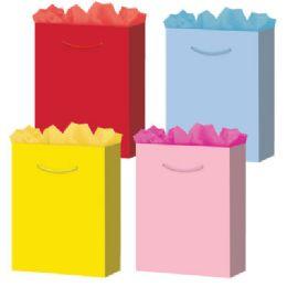 "288 Bulk Solid Colors 6 Asst. Small 4.75"" X 5.75"" X 3"""