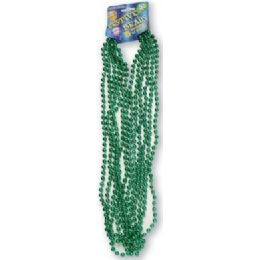 "120 Bulk Festive Beads - 33"" Green - 6 ct"
