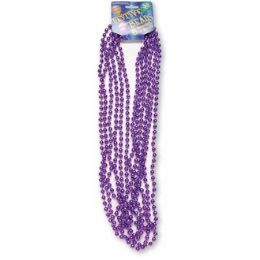 "120 Bulk Festive Beads - 33"" Purple - 6 ct"