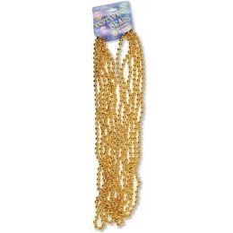"""120 Bulk Festive Beads - 33"""" Gold - 6 ct"""