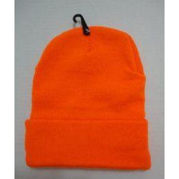 48 Bulk Hunter Orange Toboggan Winter Hat