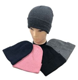 24 Bulk Winter Toboggan Hat Assorted Colors