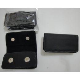 144 Bulk 5 Inch Black Horizontal Cell Phone CasE-Double Snaps