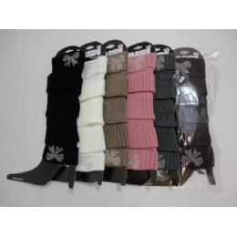 48 Bulk Leg WarmerS--Studded Bow