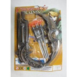 96 Bulk 10 Inch Toy Crossbow With 3 Arrows
