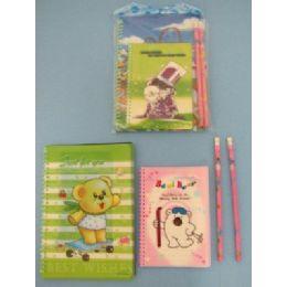 144 Bulk 3pc Notebook & Pencil Set