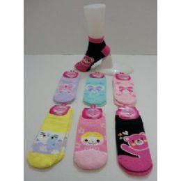 48 Bulk Women's Low Cut Printed Super Soft Fuzzy Socks