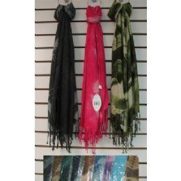 72 Bulk Scarf With FringE-Single Color Tie Dye