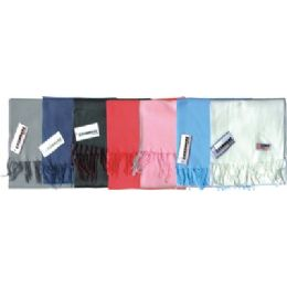 48 Bulk Fleece Winter Scarf Solid Colors Assorted