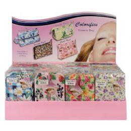 72 Bulk Fabric Cosmetic Bags In Display Box