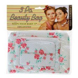 144 Bulk 3 Piece Beauty Bag Asst Styles