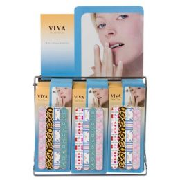 144 Bulk Viva 4 Pc Nail Care Set On Display Rack