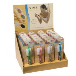 144 Bulk Viva 4 Step Pedicure Paddle In Display Box
