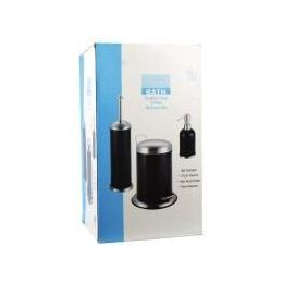 4 Bulk 3 Piece Stainless Steel Bathroom Set In Black