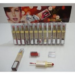 144 Bulk Shine & Care Lip Stick/lip Gloss Combo