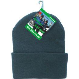 48 Bulk Winter Ski Hat Black Only