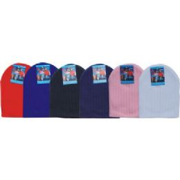 48 Bulk Unisex Winter Ski Hat Assorted Colors