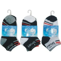 72 Bulk 3 Pack Boys Sport Sock Size 4-6