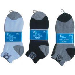 144 Bulk Mens 2 Pair Ankle Sport Ankle Sock Size 10-13