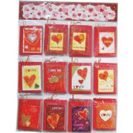 120 Bulk Valentines Gift Card 5x4inch With Envelope On Display