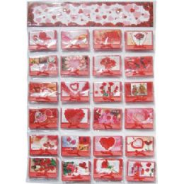 120 Bulk Valentines Gift Card 3.5x4inch With Envelope On Display