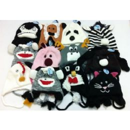 72 Bulk Knit Animal Hats