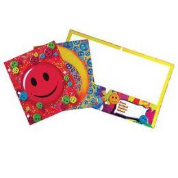 96 Bulk Smiley Face Folders