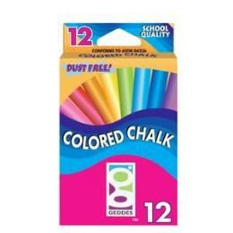 144 Bulk 12 Ct Color Chalk Pack