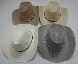 24 Bulk Gray/tan Summer Mesh Cowboy Hat