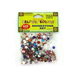 75 Bulk 600 Piece Rhinestone Set (assorted Colors)