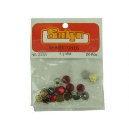 144 Bulk 20 Pc 4.5mm Red Rhinestones