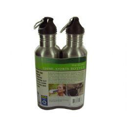 6 Bulk Stainless Steel Sports Bottle Set