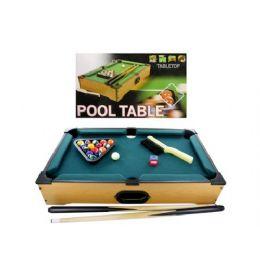3 Bulk Tabletop Pool Table, 22 Pieces